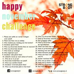 happy nov challenge