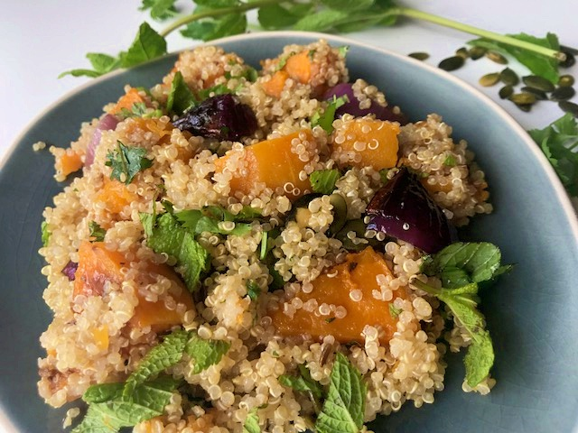 Quinoa pompoen zomersalade