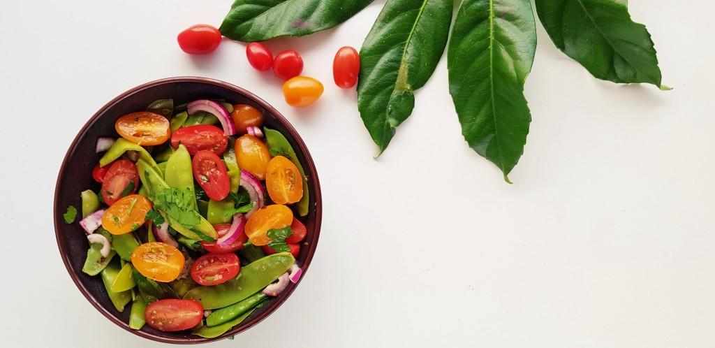 peultjes en cherry tomaten salade  strongbody.nl