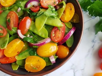 peultjes en cherry tomaten salade |strongbody.nl