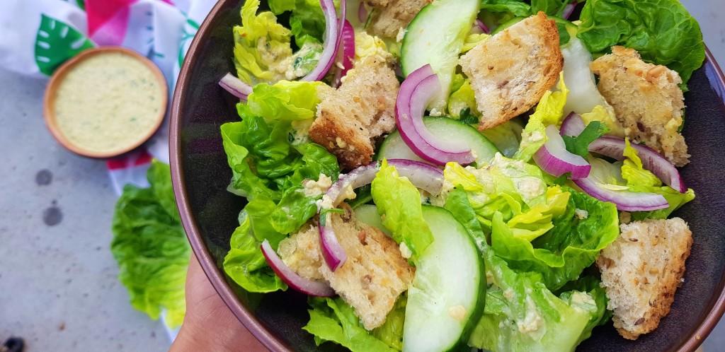 Vegan Caesar Salade | strongbody.nl