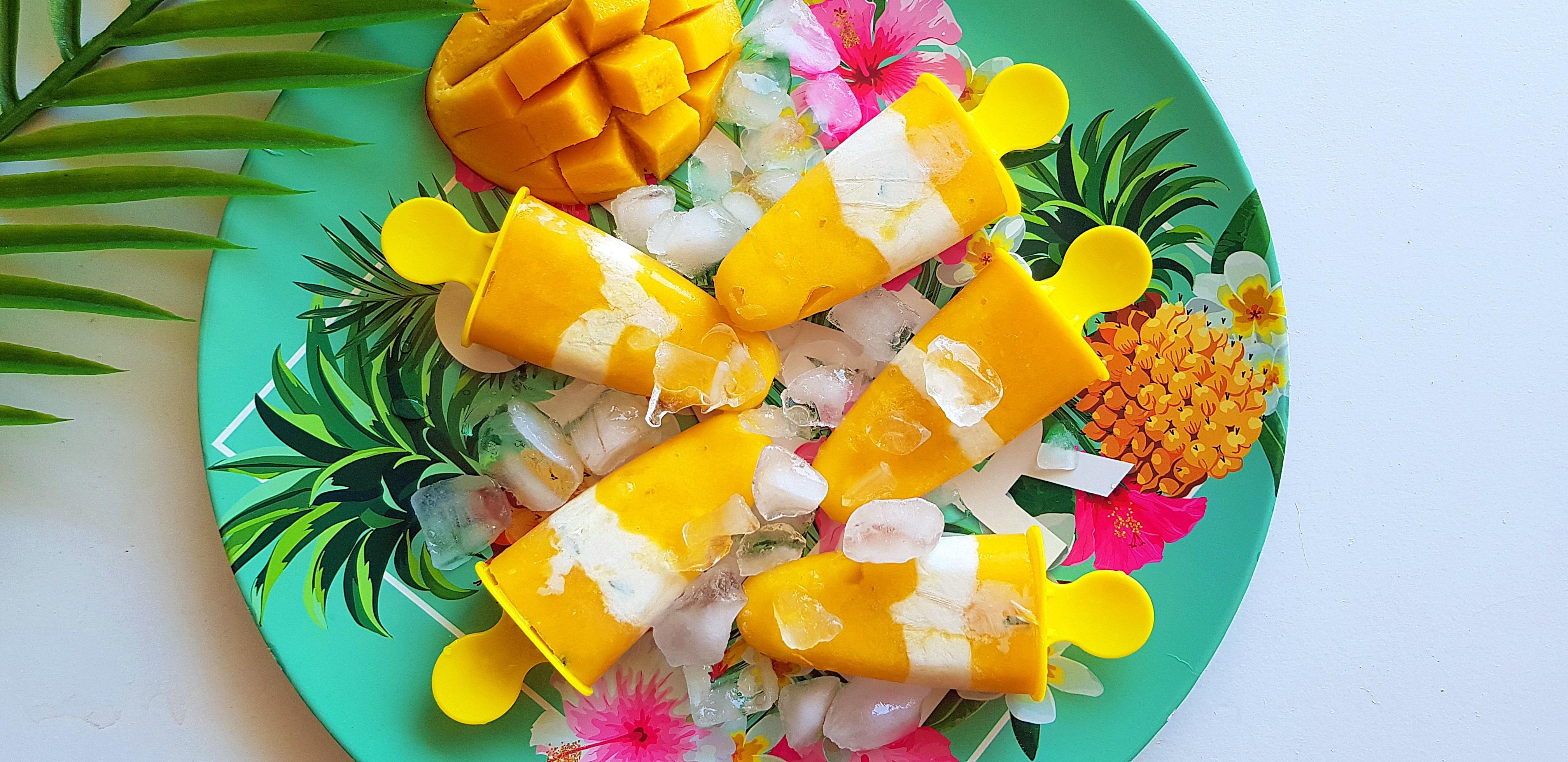 Mango kokos ijslollies | strongbody.nl