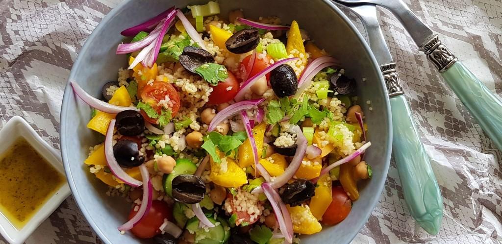 Kikkererwten couscous salade