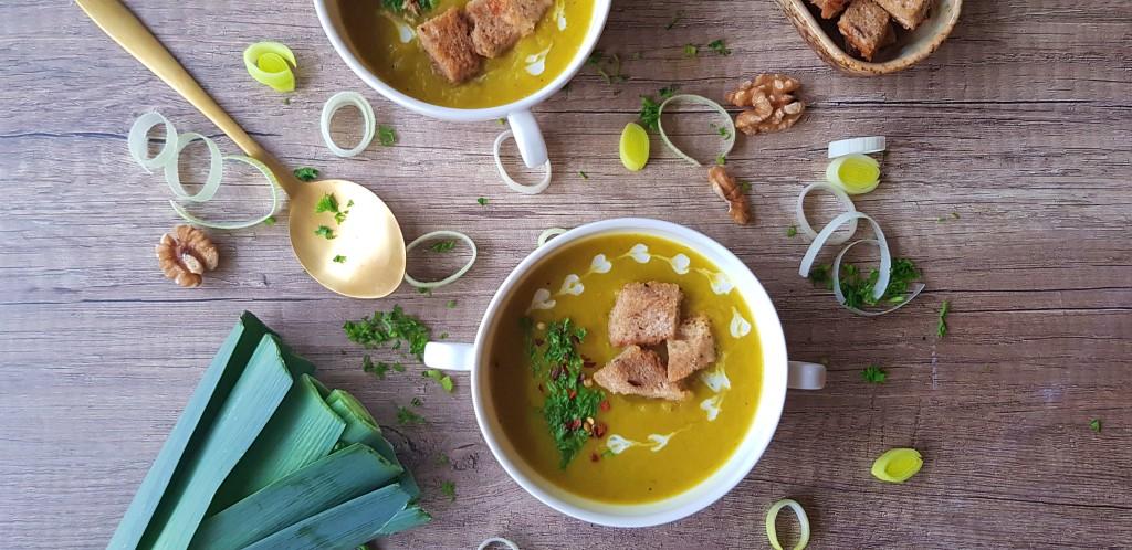 Kerrie aardappel prei soep   strongbody.nl