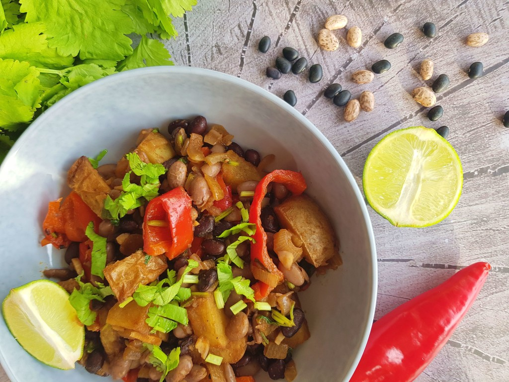 Geroosterde aardappelen met bonen | strongbody.nl